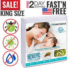 Mattress Cover Protector Waterproof Pad King Size Encasement Bug Bed Cover