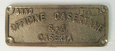 officine casertane s.p.a targa da carro in ottone 1994