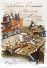 "Traditional Tool Shed ""GREAT~GRANDAD"" Birthday Card"