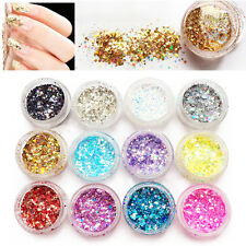 Nail Art Mixed Glitter Powder Holographic Laser Sequins Pigment Manicure DIY sk