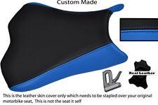 BLUE & BLACK CUSTOM 09-12 FITS KAWASAKI NINJA ZX6R ZX6  600 LEATHER SEAT COVER