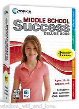 MIDDLE SCHOOL SUCCESS DELUXE 2009 Grade 6 7 8 PC XP VISTA NEW SEALED
