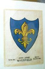 B.D.V. Cigarettes Silk- TOWN ARMS WAKEFIELD, Series 30 (7x5 cm)