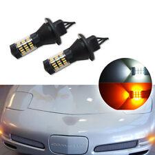 Switchback White Amber Turn Signal DRL Light LED Bulbs for 1997-2004 Corvette C5