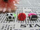 50 Fancy Dress Rubber Football Basketball Rings Assorted