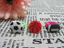 50 Fancy Dress Rubber Football Basketball Rings Assorted
