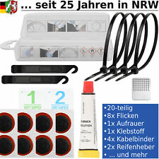 20tlg Fahrrad Reparatur Set Flickzeug Fahrradflickzeug Pannenset Reifenreparatur