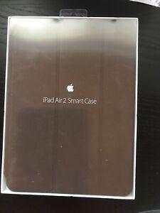 EUC genuine apple ipad air 2 leather smart case in brown