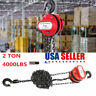 PORTABLE 2 T CHAIN PULLER BLOCK FALL CHAIN LIFT HOIST HAND TOOLS CHAIN WITH HOOK