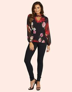 LIPSY JESSICA WRIGHT FLORAL CUT OUT TOP  BNWOT