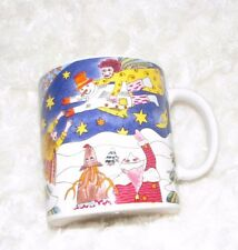 KIKI SUAREZ COFFEE CUP MUG XMAS THE ANGEL TEACHES THE SNOWMAN HOW TO FLY 1997