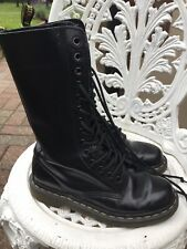 Doc Martens 1914 Vintage Smooth Black Leather 14hole Uk5/38 Used Condition