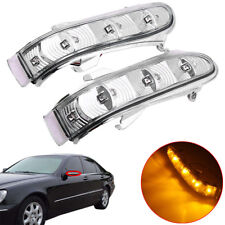 2 Side Mirror LED Turn Signal Light For Benz CL600 S430 S500 S55 S600 2002 Amber