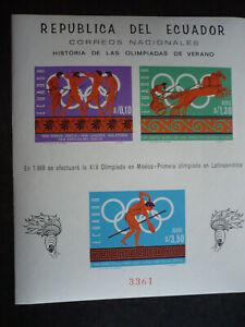 Stamps - Ecuador - Scott# 754e-g - Souvenir Sheet - Imperf