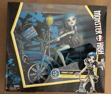 ❤️NEW RARE - Mattel Monster High Boltin' Bicycle Frankie Stein Doll + BIKE SET❤️