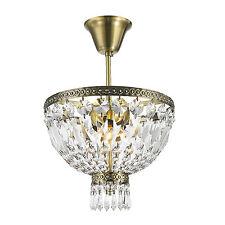 "3-Light Antique Bronze 12"" x 14"" Frigg Crystal Chandelier Ceiling Light"