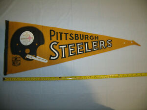 Pittsburgh Steelers Vintage Original 1967 Single Bar Soft Felt Full Size Pennant