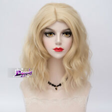 40cm Ombre Curly Short Lolita Anime Cosplay Women Girls Hair Blonde Party Wig