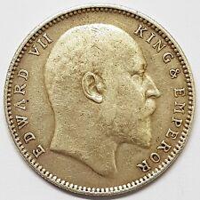 one rupee inde Edward VII 1907