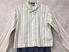 Eskandar Striped Boxy Oversized Shirt Top sz 0