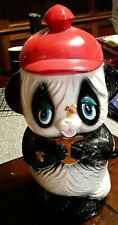 Rare Vintage Panda Bear Bank (Holding cookie w/bees on nose and paw)