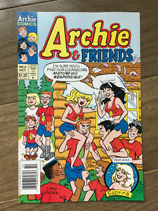 ARCHIE AND FRIENDS # 6 FINE/VF NEWSSTAND EDITION PILLOW FIGHT COVER