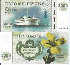 5000 Pesetas Spain - Isla Alboran 2014 UNC Private Issue