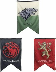 GAME OF THRONES BANNERS 50 X 30 INCHES CHOOSE YOUR HOUSE OFFICIALLY LICENSED HBO