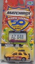 KKar Matchbox - 2001 Across America - Isuzu Rodeo - Yellow - Arizona