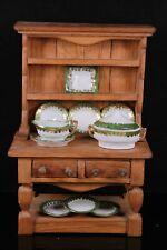 Vintage MINIATURE Oak Dresser and Part Service Hand Made Folk Art Circa 1900