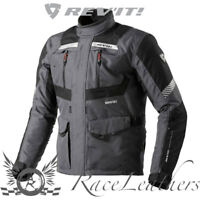 REV-IT NEPTUNE GREY BLACK GORE-TEX WATERPROOF MOTORCYCLE MOTORBIKE JACKET