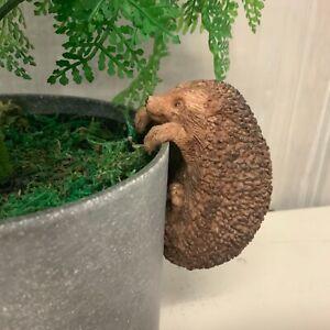 Bronze Effect Hedgehog Plant Pot Hanger Christmas Gift Easter Decoration Vintage