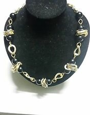Women's Beautiful and Unique Handmade Black and Gold Necklace