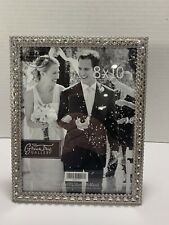 NEW Green Tree Silver 8x10 Frame with Rhinestones