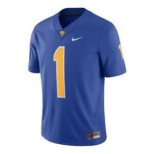 Nike Pitt Panthers Blue/Yellow Game Home Football Jersey AO9939-493 Sz M