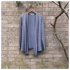Boden-jaspeado gris y azul con rayas Jersey Chaqueta estilo blazer-talla 14