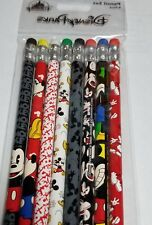 Disney Parks Mickey Mouse Pencil Set 8 Pack Timeless Mickey Mouse Desings NEW