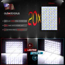 20Pcs White LED Light T10 &BA9S & Festoon Adapter 48SMD Panel Dome Interior Lamp