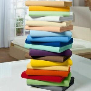 UK-KING SIZE 1000 TC EGYPTIAN COTTON 1PC FITTED SHEET+2PC PILLOW CASE ALL COLOR