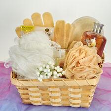 Ultimate Exfoiliating Spa Bath Set  Gift Basket - Tan, Peach, White Women