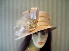 Kentucky Derby Hat, Satin Hat, Chuch hat, Easter Hat, Wedding Hat, Royal Ascot