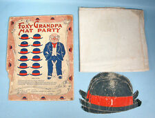 1905-06 Foxy Grandpa Hat Party Game w/Box Top Bunny Early Comic Character