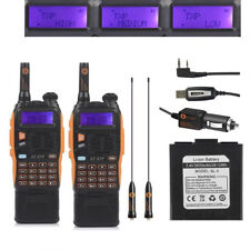 2x Baofeng GT-3TP MarkIII 8W Dual Band V/UHF Two-way Radio 3800mAh +Cable > GT-3