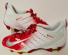 Nike Men's Vapor Shark 3 Football Cleats in Red/White 917168-106 (Size 13)