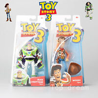 Toy Story 3 Disney Buzz Lightyear & Woody Fully Articulated Action Figure In Box