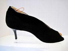 Amalfi by Rangoni Women's Black Suede Peep Toe Booties Size 9 1/2 M,New $261.00