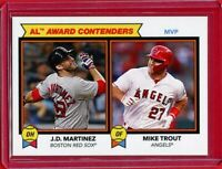 2018 JD MARTINEZ / MIKE TROUT Topps TBT Throwback Thursday 1978 Football Leader
