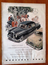 old SHEET adversiting mercedez benz 1950s of magazine 50s