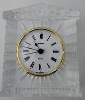 Staiger Lead Crystal Quartz Grecian Style Vintage Desk Bedroom Clock Germany