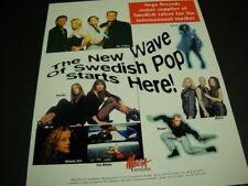 SWEDEN 1995 Promo Poster Ad ACE OF BASE Metrix STAPPE Yaki-Da AKIMBO GIRL others